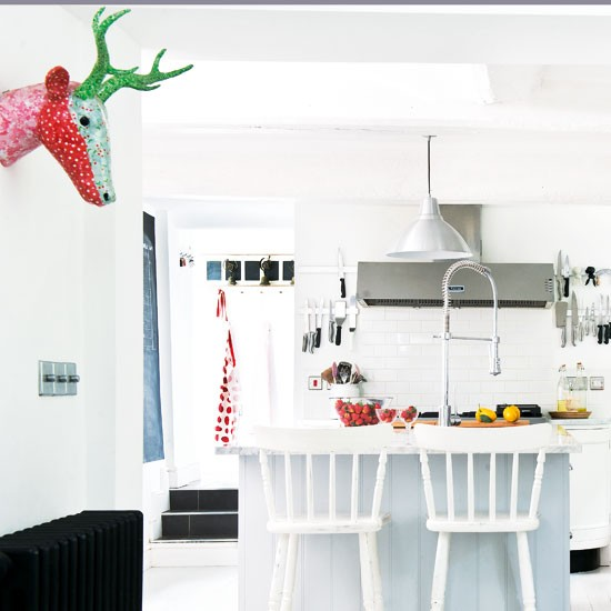 White on white kitchen | Modern kitchen decorating | Whine kitchen furniture | Image | Housetohome