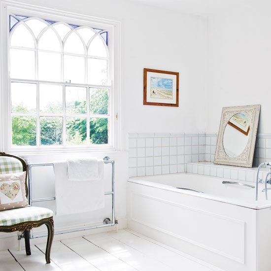 White bathroom | Bathroom decorating | Country bathroom ideas | Image | Housetohome