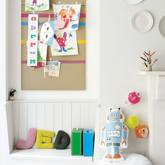 Post up notes on a fun pinboard | 10 best kids' playroom storage ideas | childrens room ideas | design inspiration | housetohome