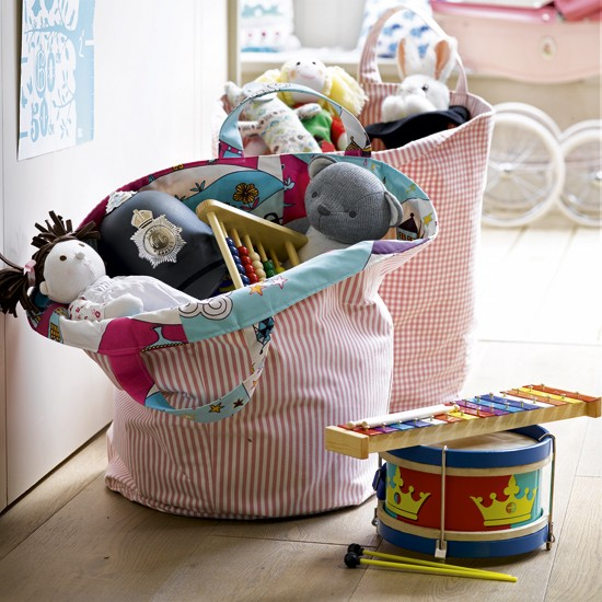Make tidying easier with fabric bags | 10 best kids' playroom storage ideas | childrens room ideas | design inspiration | housetohome