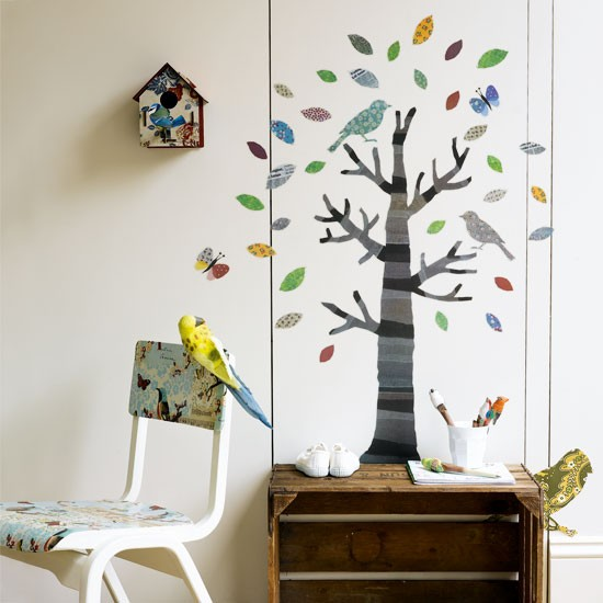 Add fun touches behind storage with wall stickers | 10 best kids' playroom storage ideas | childrens room ideas | design inspiration | housetohome