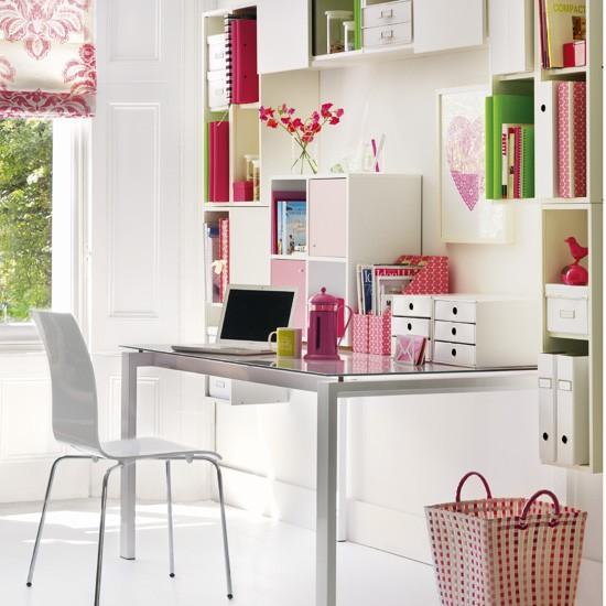 tips para lograr un escritorio femenino y organizado Decoracin
