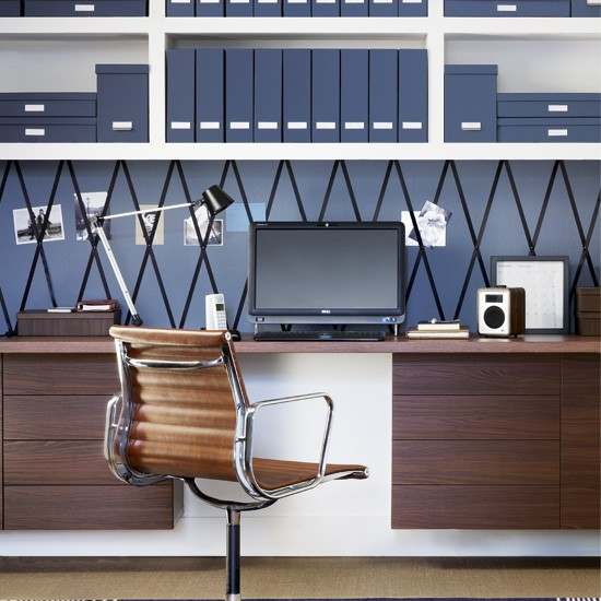 Awesome Den Decorating Ideas And Photos  Modern Small Work Office Using Den