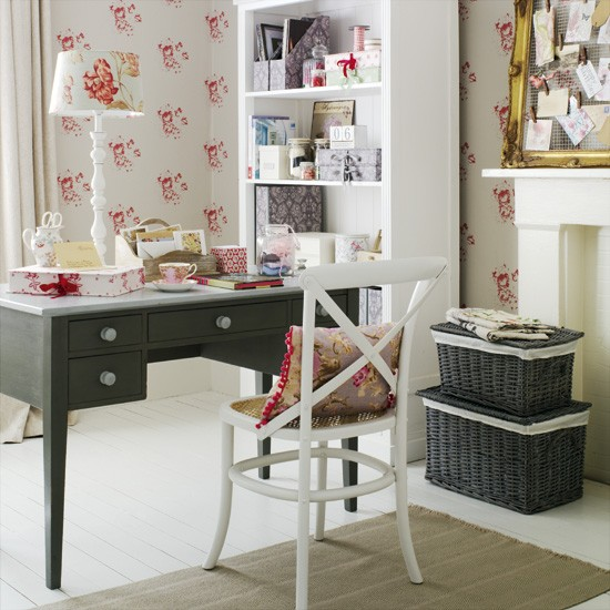 21 Feminine Home Office Designs Decorating Ideas: Go For A Feminine Country Home Office