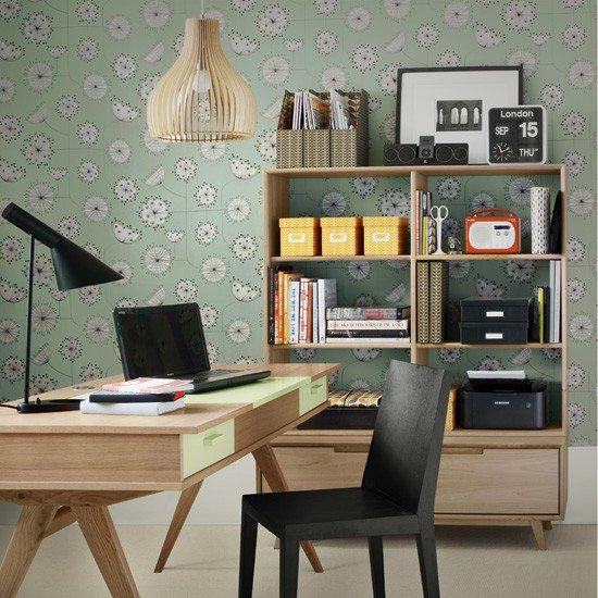 Create A Cool Retro Study 5 Clever Ideas For Home Offices Home Office Decorating Ideas
