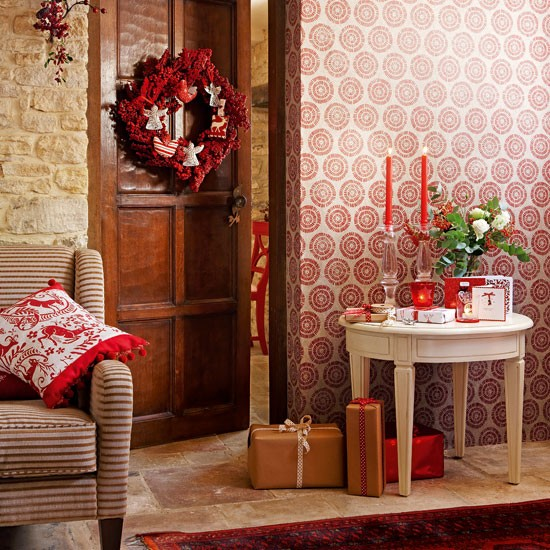 Use wallpaper | Handmade Christmas decorating ideas | Christmas crafts | Christmas | PHOTO GALLERY | Country Homes & Interiors | Housetohome