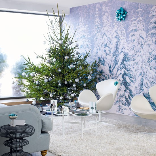 Create a mid century narnia magical modern christmas for Modern christmas home decorations