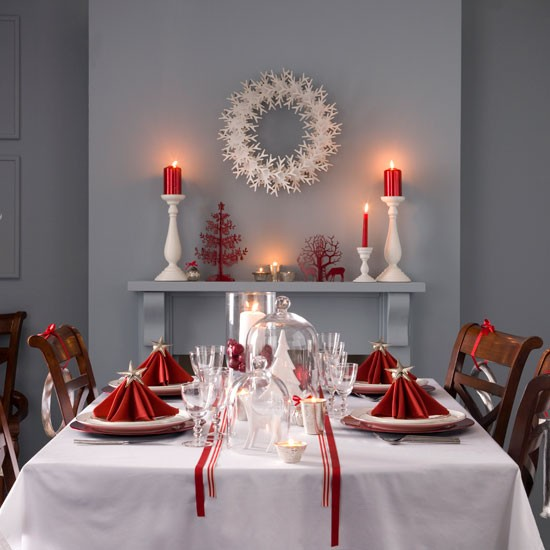 Modern Scandinavian | Christmas dining room decorating ideas | Christmas looks | Christmas | PHOTO GALLERY | Ideal Home | Housetohome