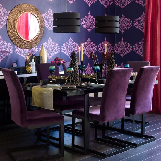 Glitz & glamour dining room | Christmas dining room decorating ideas | Christmas looks | Christmas | PHOTO GALLERY | Ideal Home | Housetohome