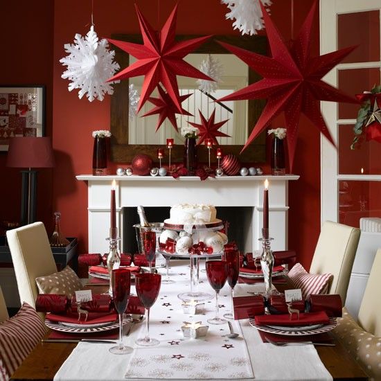 Starry night dining room | Christmas dining room decorating ideas | Christmas looks | Christmas | PHOTO GALLERY | Ideal Home | Housetohome