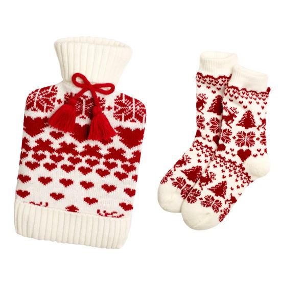 hot water bottle and sock set from debenhams christmas