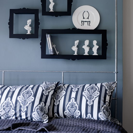 Modern blue bedroom | Bedroom idea | Bedroom | Image | Housetohome