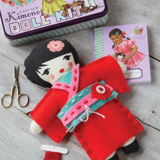 Kimono doll kit from cox cox christmas gifts for craft for Gift ideas for craft lovers