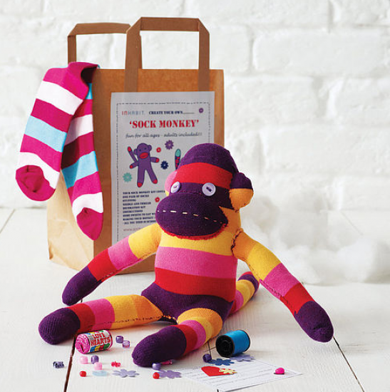 Sock monkey craft kit from notfromthehighstreet for Gift ideas for craft lovers