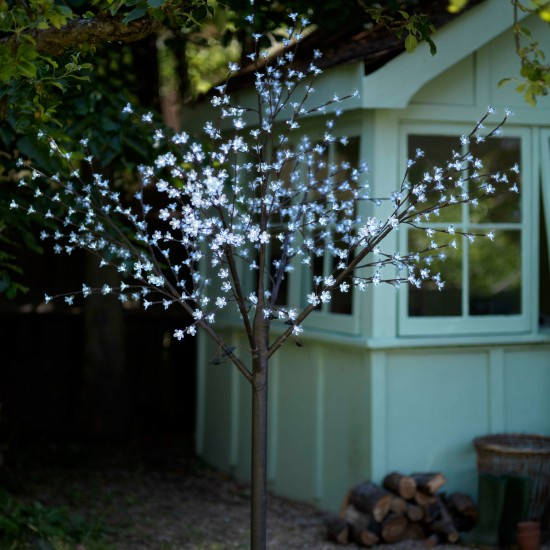Prelit Blossom Tree from Asda | Outdoor Christmas lighting - best