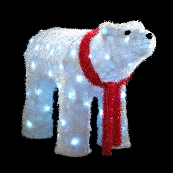 outdoor christmas lighting led large polar bear from bq outdoor christmas lighting best - Outdoor Polar Bear Christmas Decorations
