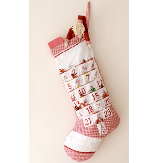 Advent Calendar Stocking from Aspen & Brown | Christmas advent calendars | Advent calendars | Christmas decorations | PHOTO GALLERY | Housetohome.co.uk