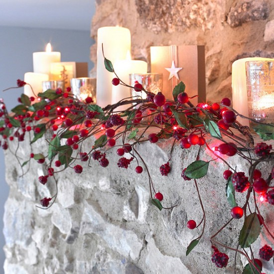 Red Berry Light String from Lakeland | Indoor Christmas lighting | Christmas lighting | Lighting | PHOTO GALLERY | Housetohome.co.uk