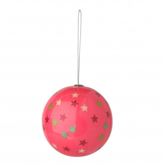 Pink Decoupage Bauble From Tesco Direct