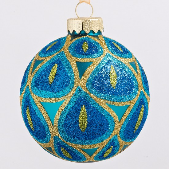 Blue and gold patterned bauble from Wilkinson | Christmas baubles | Christmas baubles 2011 | Christmas tree decorations | Christmas decorations | PHOTO GALLERY | Housetohome.co.uk