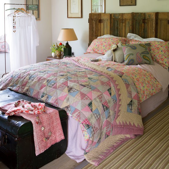 Mix and match quilts | cosy | bedroom | country | PHOTO GALLERY | Country Homes & Interiors