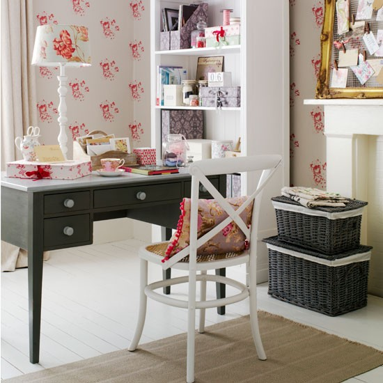 Floral home office | Home office idea | Home office | Image | Housetohome