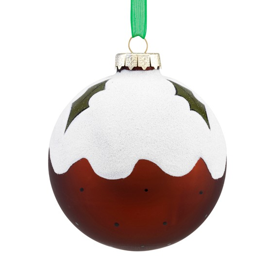 Christmas Pudding Bauble From Sainsburys