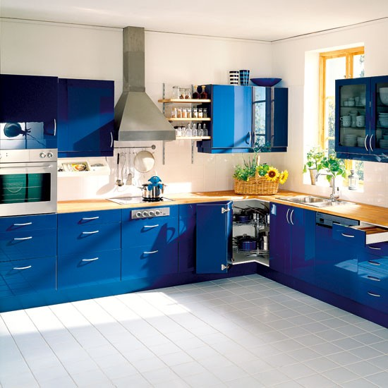 blue kitchen kitchen colour schemes bright kitchens beautiful
