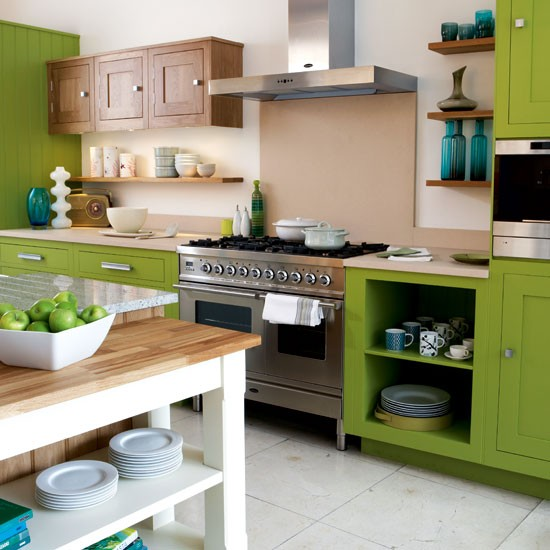 Green Kitchen Kitchen Colour Schemes 10 Ideas