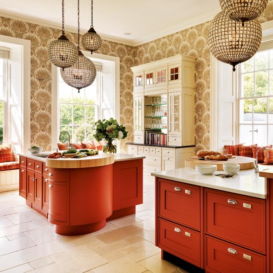 Terracotta kitchen | Kitchen colour schemes | Bright kitchens | Beautiful Kitchens