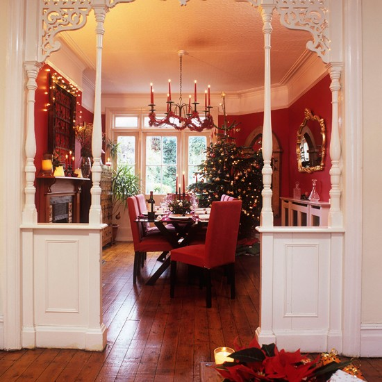 Festive Dining Room Entrance Step Inside This Cosy