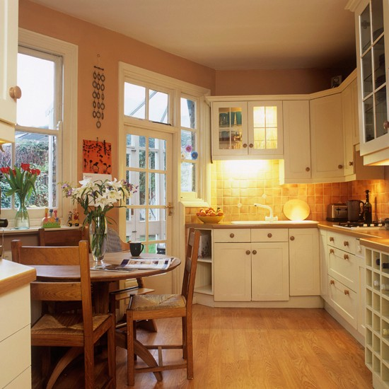 Kitchen step inside this cosy christmas retreat for Beautiful houses inside