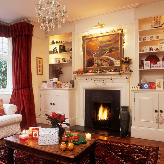 Christmas living room  Step inside this cosy Christmas retreat
