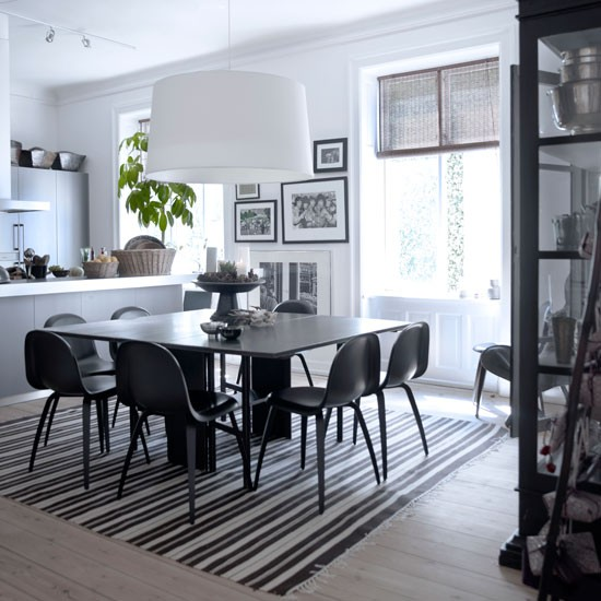 Monochrome Kitchen Diner Ideas For Easy