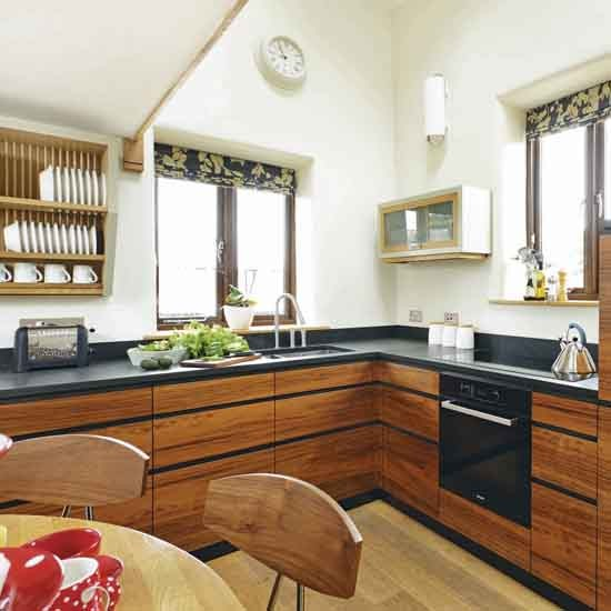 Walnut contemporary kitchen modern kitchen cabinets for Beautiful contemporary kitchens