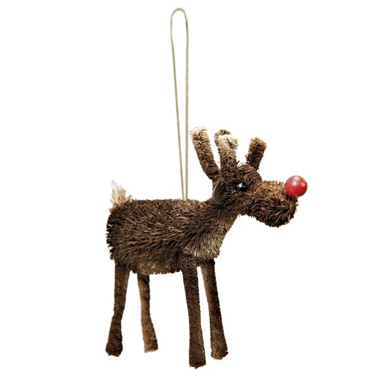 Bristle Red Nose Reindeer From Tesco