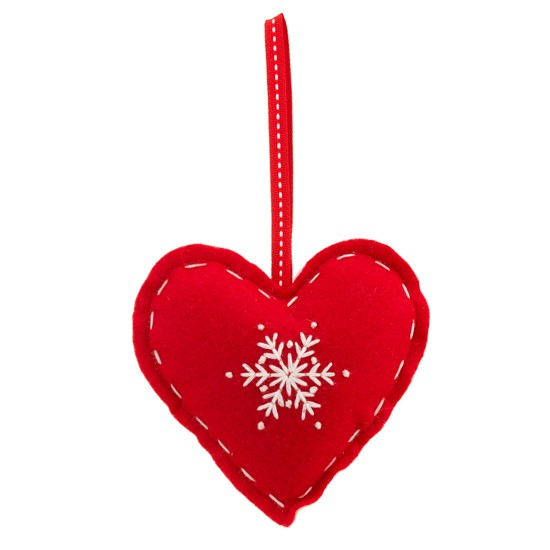 Felt heart from Sainsbury's | Christmas tree decorations | Christmas tree decorations 2011 | Christmas decorations | Christmas decorating idea | PHOTO GALLERY | Housetohome.co.uk