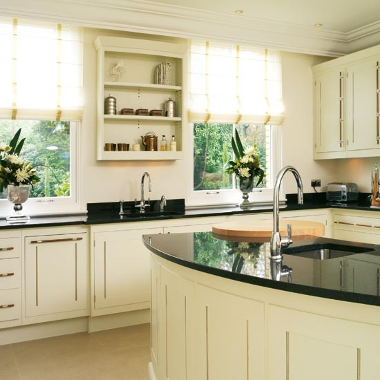 Wall unit take a tour around a timeless hand painted for Beautiful kitchen units designs