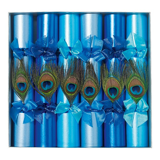 Peacock crackers from Liberty | Christmas crackers | Christmas crackers 2011 | Christmas decorations | Christmas decorating ideas | Ideal Home | Housetohome.co.uk