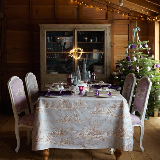 Formal table arrangement | Country-style Christmas table ideas | Christmas table settings | Country Homes & Interiors