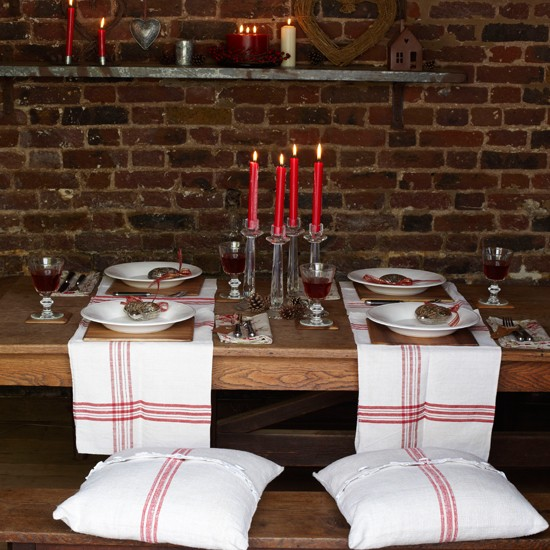 Rustic Table Setting Country Style Christmas Table Ideas