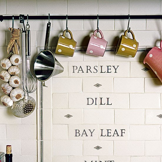 Hand Painted Kitchen Tiles: Celia Rufey's Kitchen Design Ideas