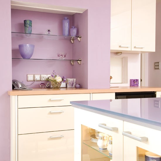 Kitchen shelving | Take a tour around this feminine lilac kitchen | | Reader kitchen | PHOTO GALLERY | Beautiful Kitchens