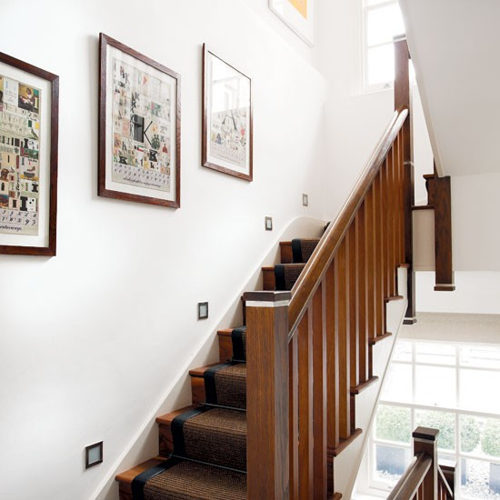 Light staircase | White staircase with lights | Staircase | Homes & Gardens | IMAGE | Housetohome.co.uk