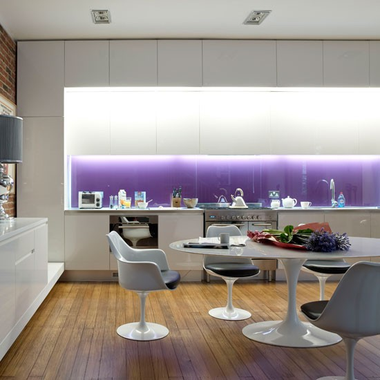 Modern purple kitchen | Contemporary kitchen | Modern kitchen designs | Kitchen | Livingetc | IMAGE | Housetohome.co.uk