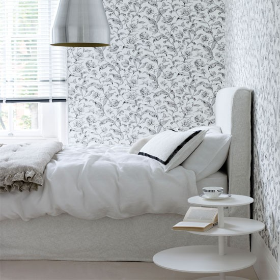 Pretty monochrome bedroom | Bedroom | Bedroom decorating ideas | Livingetc | IMAGE | Housetohome.co.uk