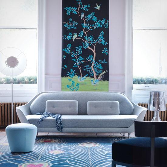Blue chinoiserie living room | Living room decorating ideas | Living room | Livingetc | IMAGE | Housetohome.co.uk
