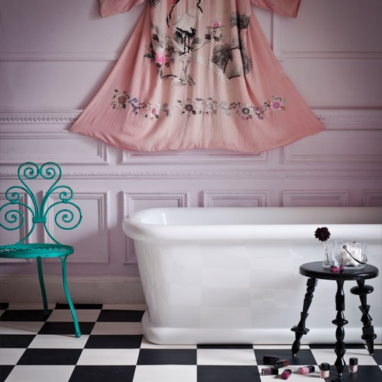Glamorous pink bathroom | colourful bathroom ideas | bathroom ideas | PHOTO GALLERY | Housetohome.co.uk