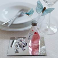 Treat guests to their favourite tipple - complete with a decorative butterfly