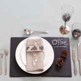 use chalk and slate boards to create personalised place settings